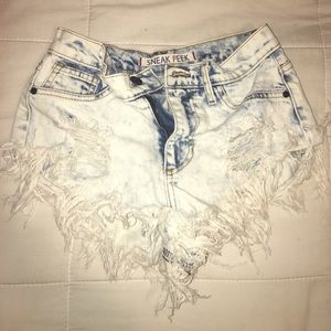 Distressed summer shorts